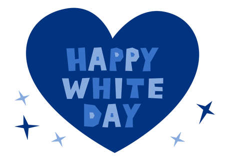 Vector illustration of White Day.   and heart design.