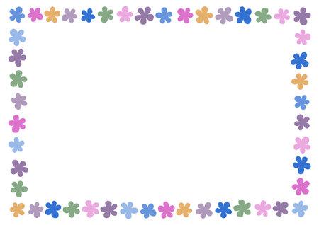 Retro floral pattern. Background vector illustration. Frame design.
