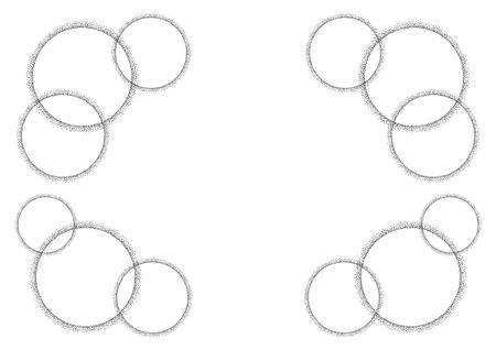 Pointillism circle. Frame design. Vector background illustration. Illustration