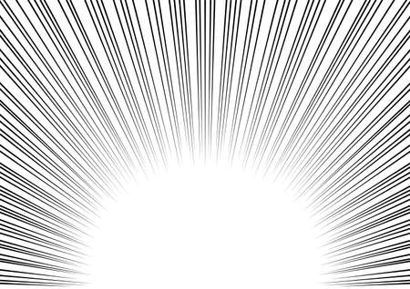 Effect background of Japanese comics. Radial speed lines. Vector illustration.