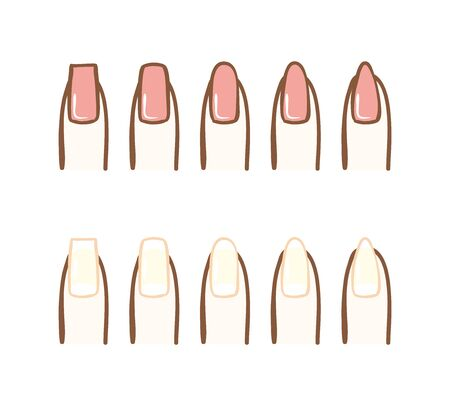 Illustration of the kind of nail shape