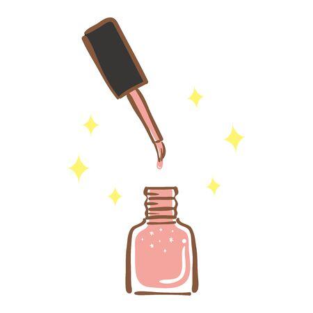Illustration of pink manicure