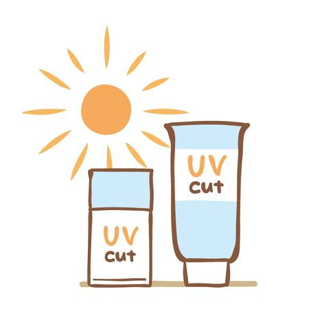 Illustration of sunscreen cream 向量圖像
