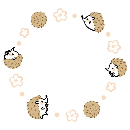 It is a cute frame material of the hedgehog.