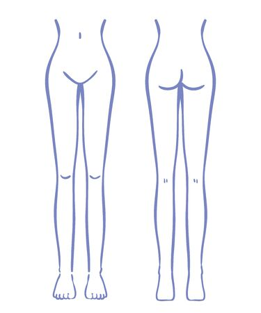 Illustration of female lower body Banque d'images - 129290195