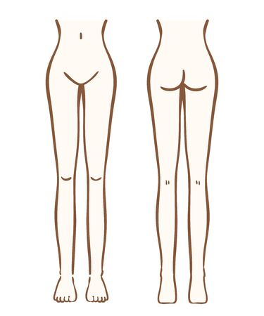 Illustration of female lower body Banque d'images - 129290196