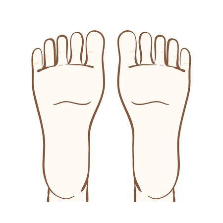 Illustration of soles of feet