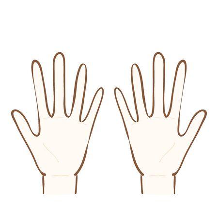 Illustration of palm of both hands Banque d'images - 129353361