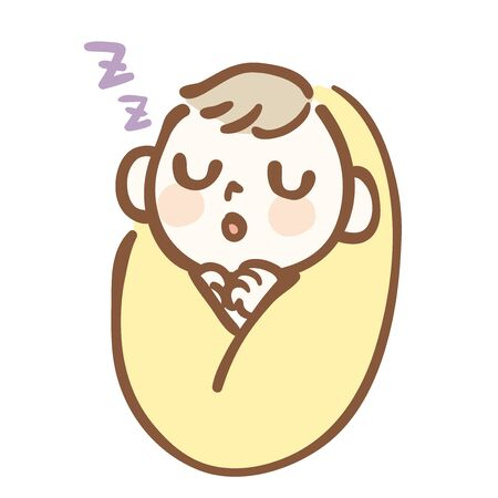 Illustration of a baby sleeping quietly