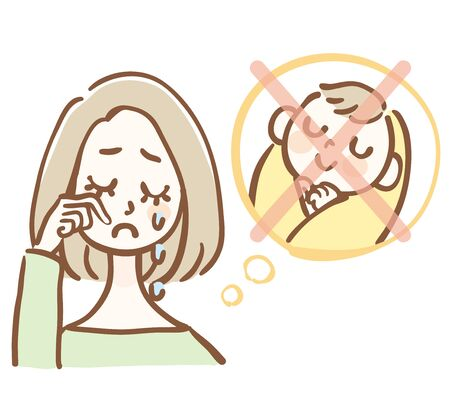 Illustration of a woman suffering from infertility