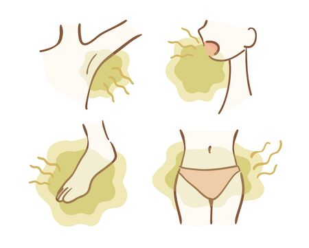 Illustration variation of smell trouble