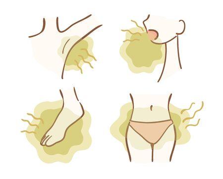 Variation d'illustration de problème d'odeur