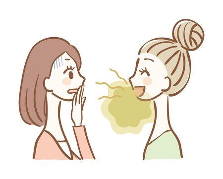 Ilustracja problemów z nieświeżym oddechem Ilustracje wektorowe
