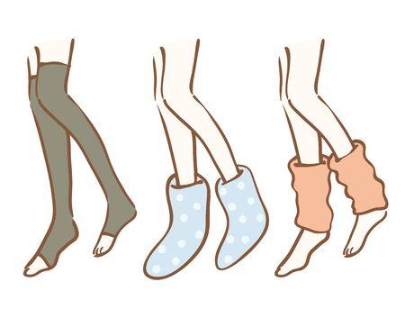 Illustration of socks and leg warmers