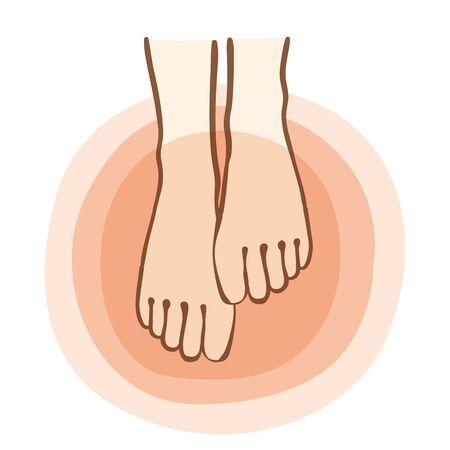 Illustration of warming the toes