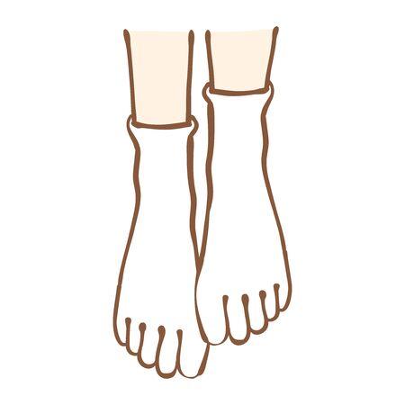Illustration of socks with five fingertips