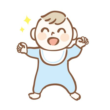 Illustration of healthy and cute baby
