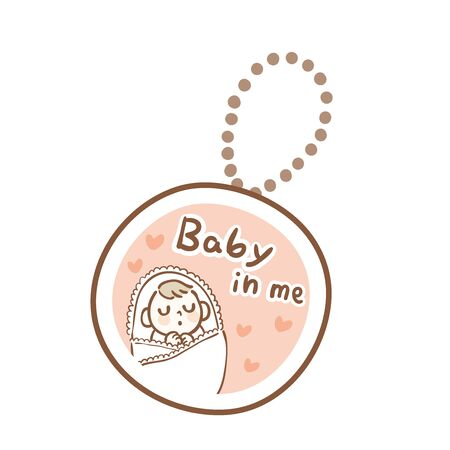 Keychain worn by pregnant people Archivio Fotografico - 142527286