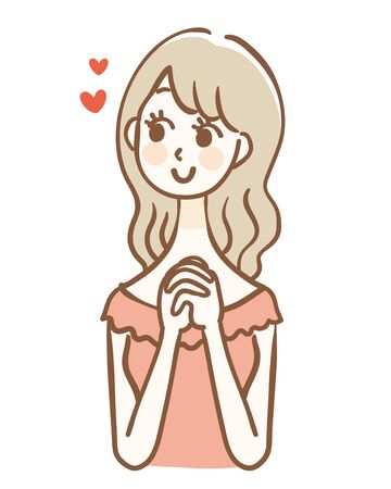 Illustration of a woman who imagines what she likes
