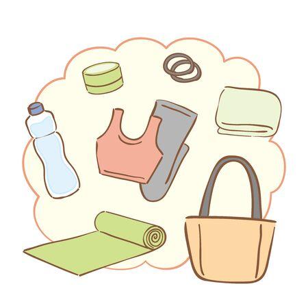 A set of yoga goods
