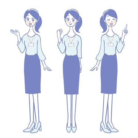Illustration of female staff in casual clothes