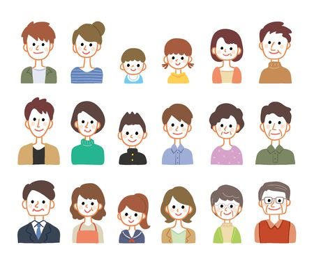 Illustration of people of different ages