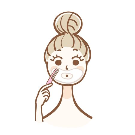 A woman to shave.
