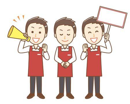 Male clerk of apron.It is a set of