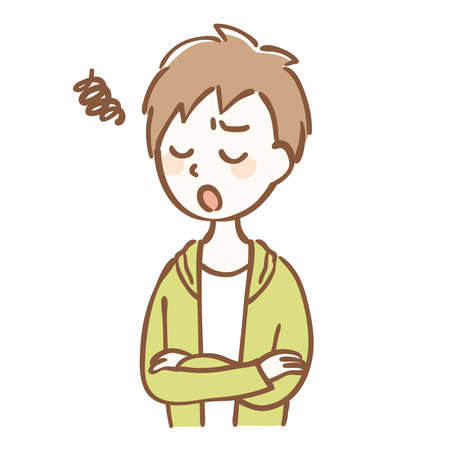 Illustration of a worried boy