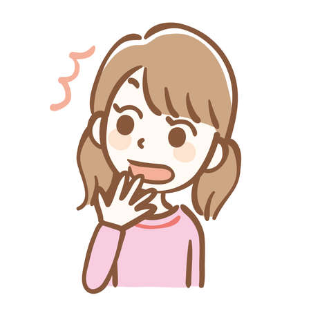 Illustration of a surprised girl 矢量图像