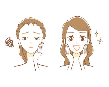 Before and after cosmetic surgery Ilustração