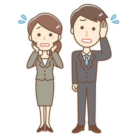 Illustration of impatient business person