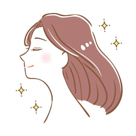 Woman with beautiful hair