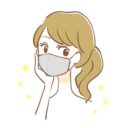 Woman wearing a hygiene mask