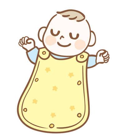 Baby sleeping wearing