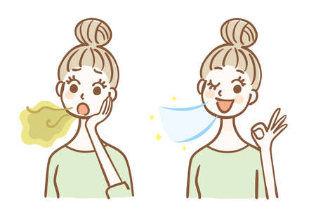 Before and after bad breath care