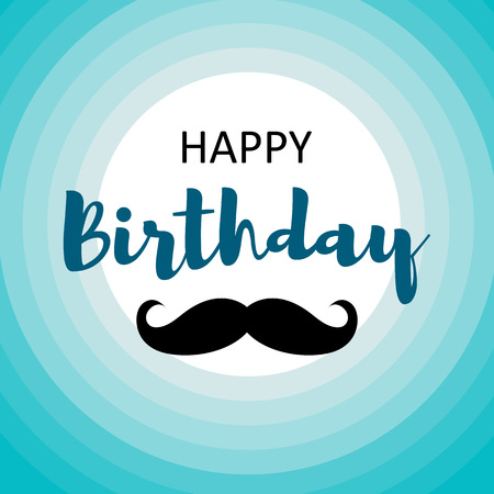 Happy Birthday Card For Men Template Design Royalty Free Cliparts
