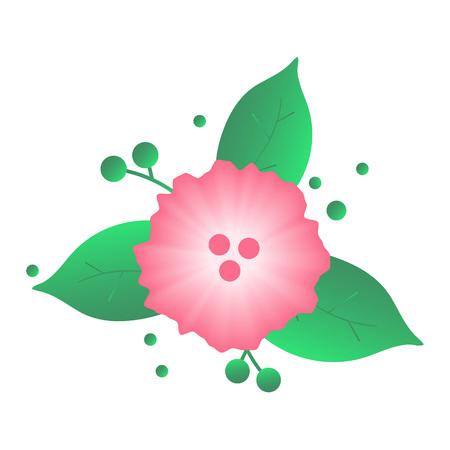 Pink flower icon Ilustracja