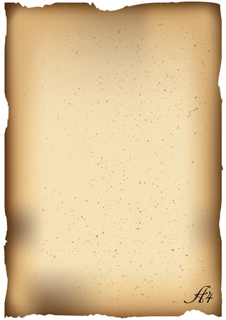 Vector Illustration. Old paper background with place for text. Vertical A4 template