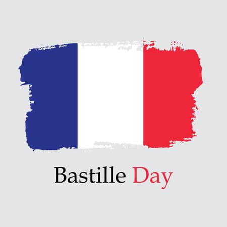 Vector Illustration. Flag France. Bastille day