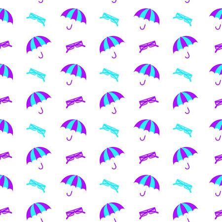 Vector Illustration. Seamless pattern with umbrella Ilustrace