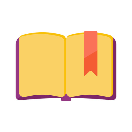 Vector Illustration. The open book with bookmarker Illustration