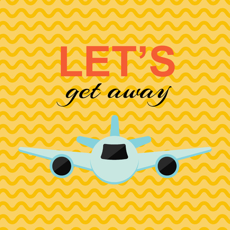 Vector Illustration. Lets get away card