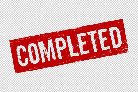 Grunge rot abgeschlossen quadratischen Siegelstempel auf transparentem Hintergrund. Retro-Symbol für Designdokumentationen. Ordner abgeschlossen Zeichen. Vektor-Illustration Vektorgrafik