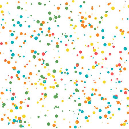 Illustration vectorielle. Modèle sans couture de confettis de célébration. Texture de confettis de papier coloré Vecteurs