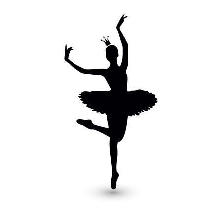 Vector Illustration. Ballerina silhouette icon for design