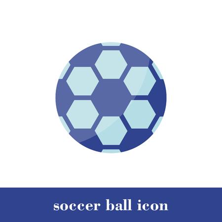 Vector Illustration. Soccer ball icon. Flat style. Ball Illustration