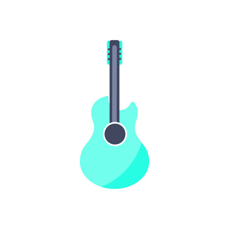 Vector Illustration. Guitar icon. Isolated music instrument in flat style Illustration