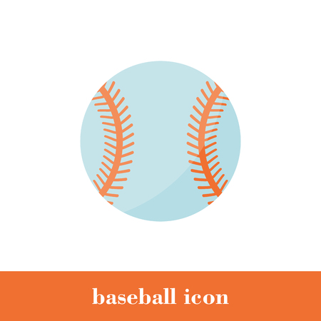 Vector Illustration. Baseball icon in flat style. Icon