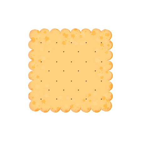 Vector Illustration. Health cracker. Isolated cookie: square. Icon Vetores